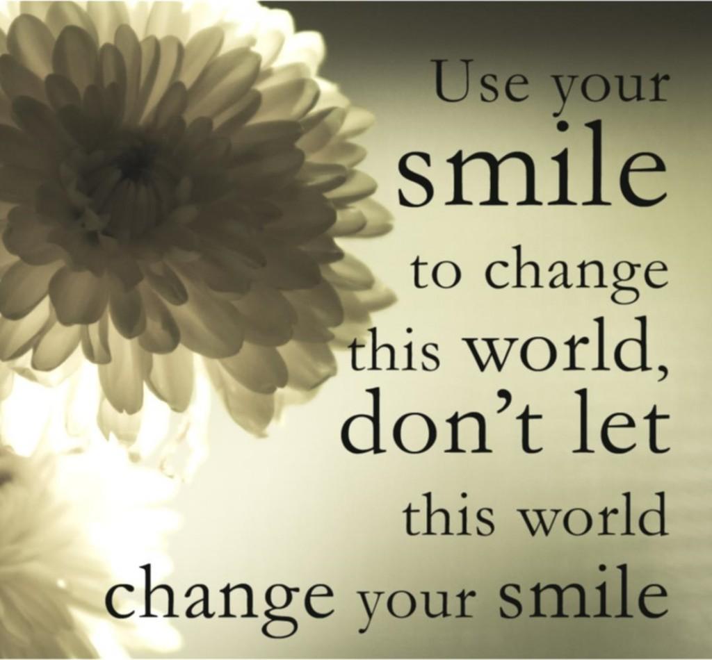 Използвайте усмивката си, за да промените света