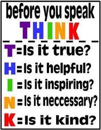 Преди да говорите